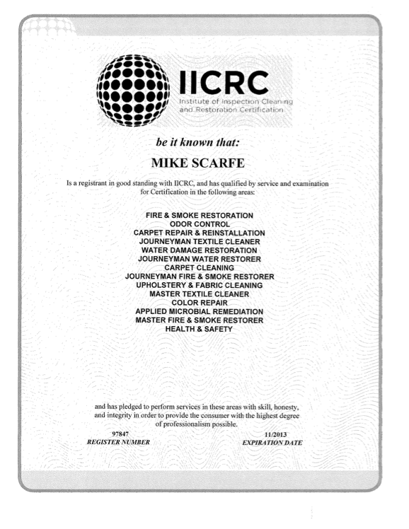 iicrc-cert_mike